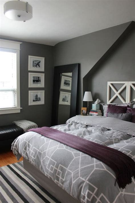 Schlafzimmer Lila Grau by 8 Gray Bedrooms Play With Coloration Gray Bedroom Ideas