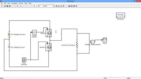 bridge inverter   battery simulation matlab