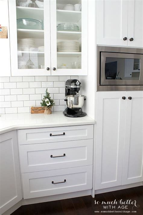 Trends we love white cabinets black hardware wellborn cabinet. Christmas in My Newly Renovated Kitchen | KITCHENS ...
