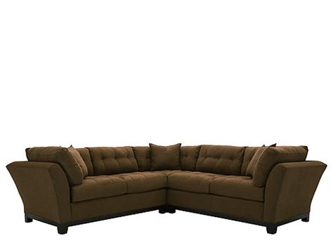 cindy crawford metropolis 3 pc microfiber sectional sofa