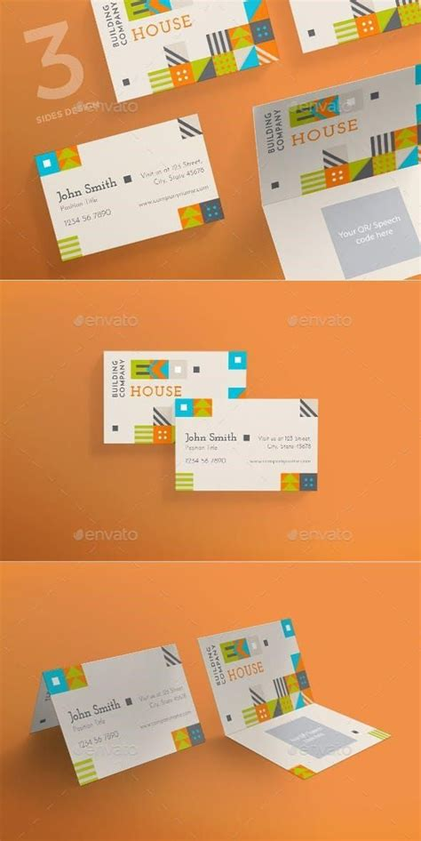 eco house business card business card design inspiration