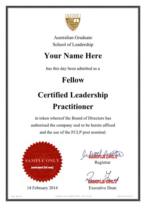 certified leadership practitioner australian graduate