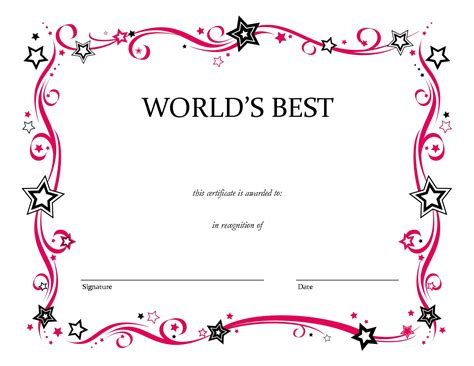 certificate templates blank blank certificate templates to print activity shelter