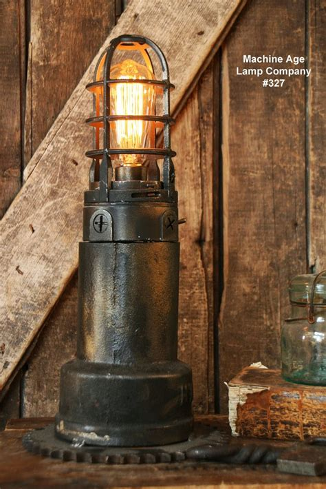 steampunk lamp antique vent pipe lighthouse  gear base