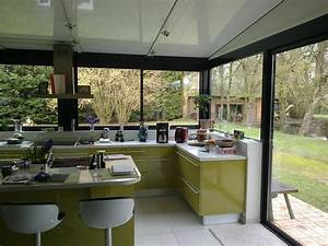 cuisine dans une veranda extension maison pinterest With agrandissement cuisine sur terrasse