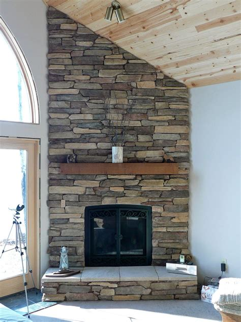 eldorado stone rustic ledge sawtooth master bedroom