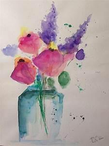 Aquarell Malen Blumen : 25 trendige abstrakte blumen ideen auf pinterest ~ Articles-book.com Haus und Dekorationen