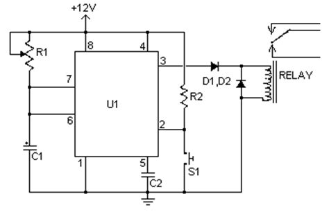 How Build Time Delay Relay Circuit Diagram