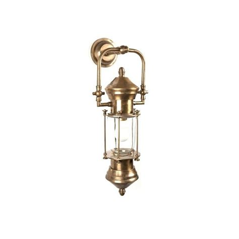 lisbon ship lantern metal wall light antique brass