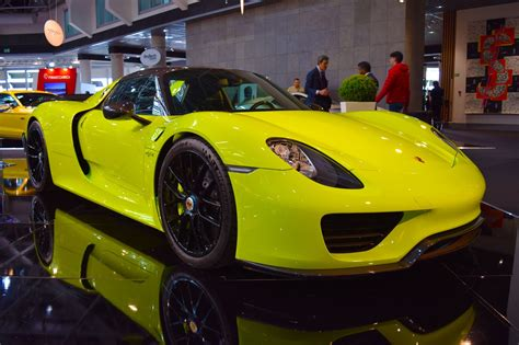 dubai dealer lists rare acid green porsche  spyder