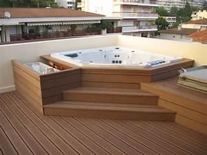 photo amenagement exterieur avec spa ciabizcom With amenagement terrasse avec spa