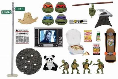 Neca Accessory Tmnt Ninja Turtles Pack 1990