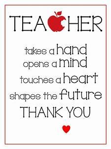 Free Printables - Teacher Appreciation Gifts ...