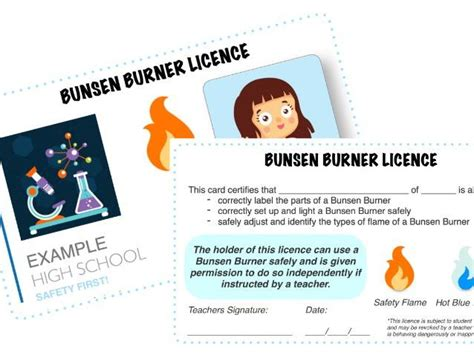 ks3 science skills bunsen burner licences by