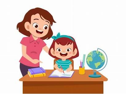 Kid Clip Parent Help Teach Helping Homework