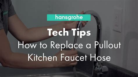 how to change out a kitchen faucet hansgrohe tech tips how to replace a pullout kitchen