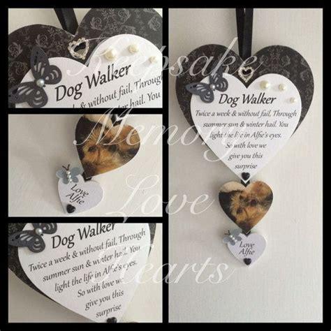 gift walker dog keepsake personalised wooden heart handmade gifts
