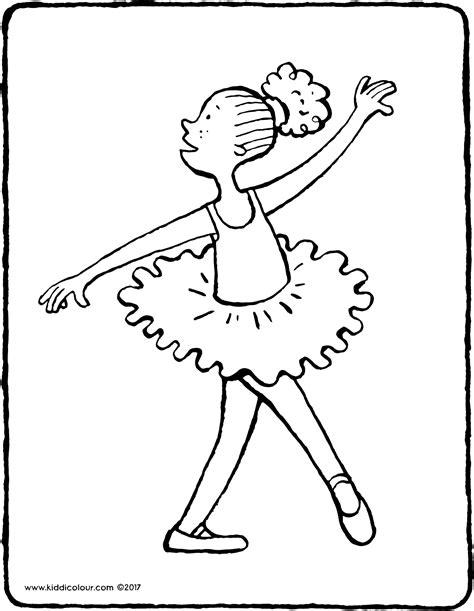 Ballet Kleurplaat by Ballet Dansen Kiddicolour