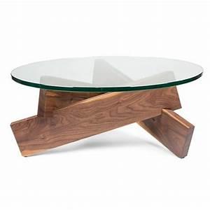 Table Basse Rectangulaire Bois : table basse design verre et bois pied table basse trendsetter ~ Teatrodelosmanantiales.com Idées de Décoration