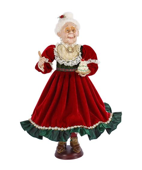 winward red green mrs claus figurine