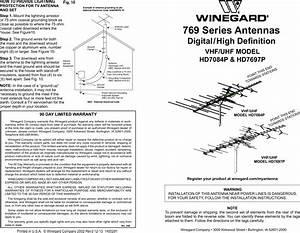 Winegard Tv Antenna Hd7084p Users Manual
