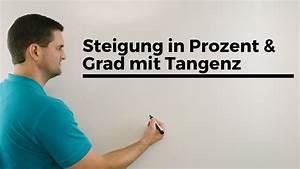 Steigung Berechnen In Grad : steigung in prozent und grad mit tangens erkl rvideo trigonometrie mathe by daniel jung ~ Themetempest.com Abrechnung