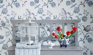 Verspielter Floraler Design Stil : landhaus tapeten f r die pure landlust im tapetenshop online bestellen ~ Watch28wear.com Haus und Dekorationen