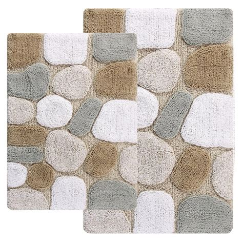 bath rug set chesapeake merchandising 21 in x 34 in and 24 in x 40
