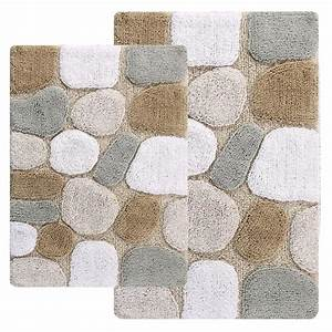 chesapeake merchandising 21 in x 34 in and 24 in x 40 With 4 piece bathroom rug set