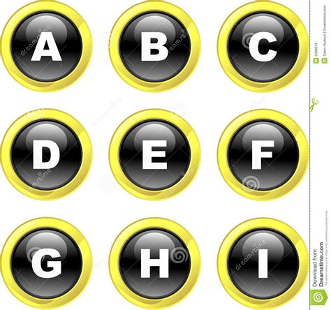 set of alphabet letters and icons for alphabet design alphabet icons royalty free stock images image 3498019 39852