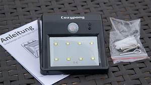 Wie Funktioniert Bewegungsmelder : cozypony solarleuchte mit bewegungsmelder techtest ~ Markanthonyermac.com Haus und Dekorationen
