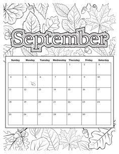 students  color  april calendar  fill