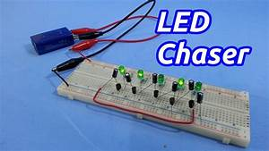 Led Chaser    Sequencer With Transistors - No Ic U00b4 S