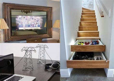 25 great diy ideas for hiding things in your home