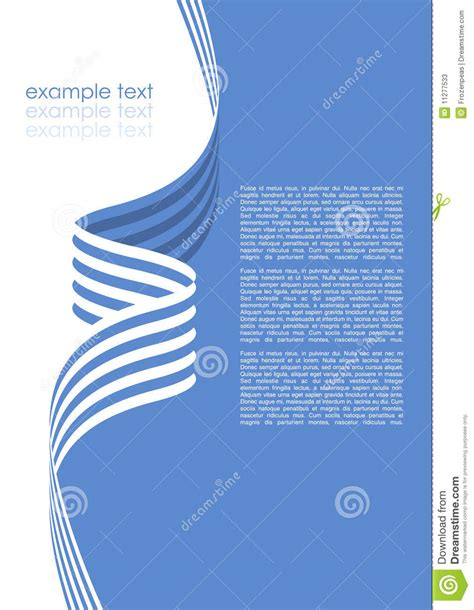 Brochure Template Vector by Vector Brochure Template Stock Vector Image Of Blue