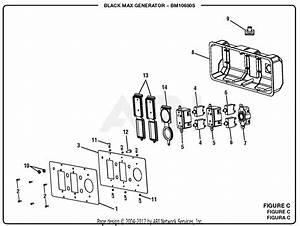 Homelite Bm10680s 6800 Watt Generator Parts Diagram For