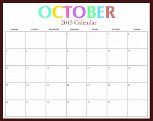 october 2015 calendar printable with holidays 2017 With 2015 monthly calendar template with holidays