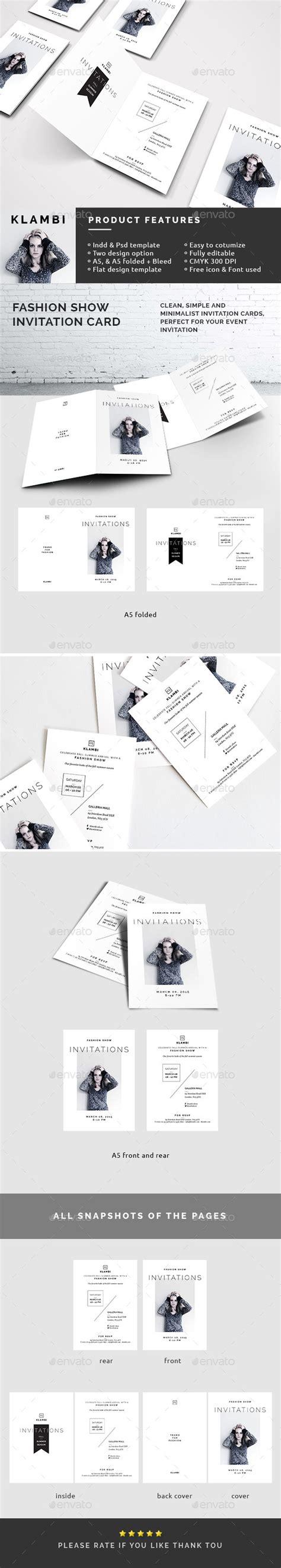 fashion invitation card template fashion show invitation template by boxkayu graphicriver