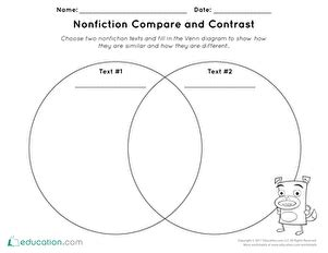nonfiction compare contrast worksheet educationcom