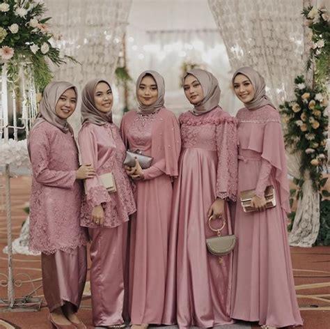 bridesmaid kece ala hijabers kekinian simpel  elegan hijabdreamcoid