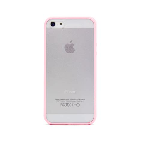 pink iphone 5s iphone 5 and iphone 5s pink bumper frosted sodacase