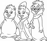 Coloring Chipettes Printable sketch template