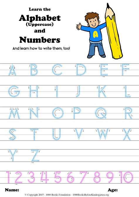 learn  alphabet numbers    write