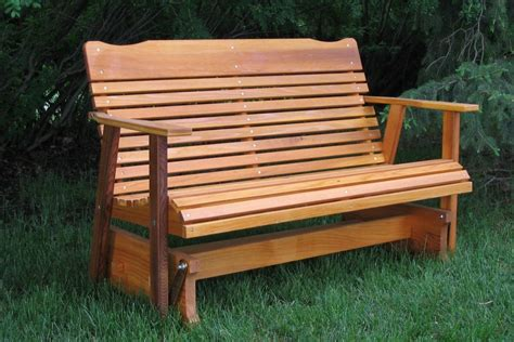 cedar glider bench from amish folk in western montana
