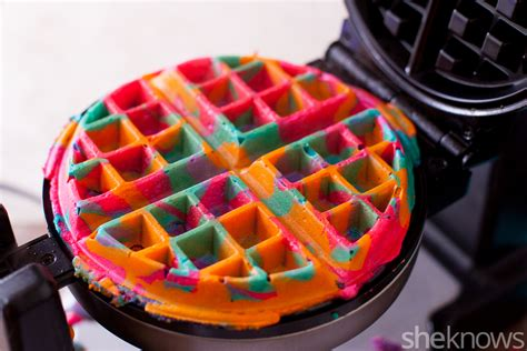 blue colored waffle these simple diy colorful tie dye waffles will make your