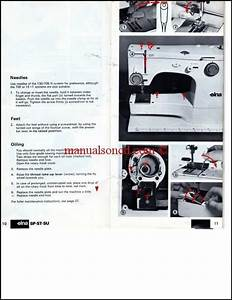 Elna Sp St Su Sewing Machine Instruction Manual