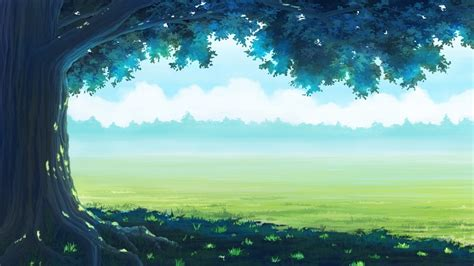 Anime Wallpaper 1280x720 - 1280x720 anime landscaope forest grass