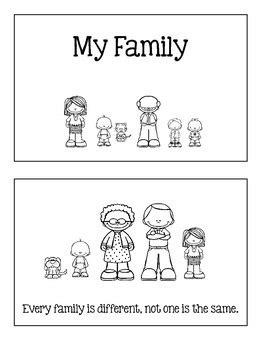 family emergent reader mini book    erma tpt