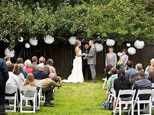 small backyard wedding decoration ideas sammi jesse39s With simple small wedding ideas