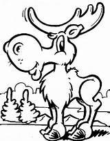 Moose Coloring Printable sketch template